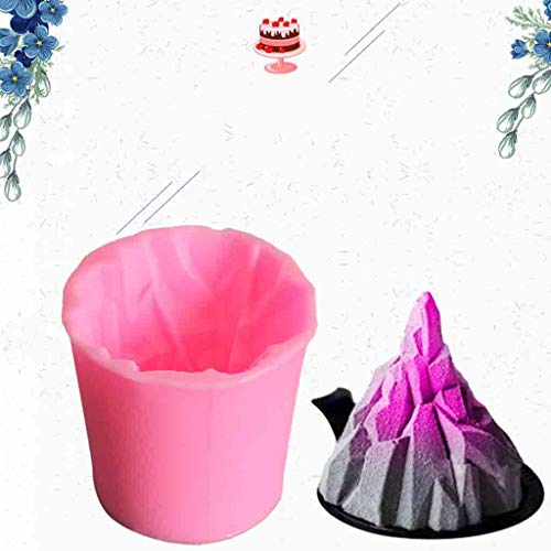 (☀ Dergo ☀ 3D Volcano Silicone Mousse Cake Mould Chocolate Fondant Baking Tool Soap)