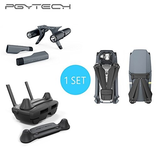 PGYTECH Combo Sale Landing Gear With Led Headlamp & Propeller Motor Hood &Remote Control Guard For DJI Mavic Pro Headlamp Guard