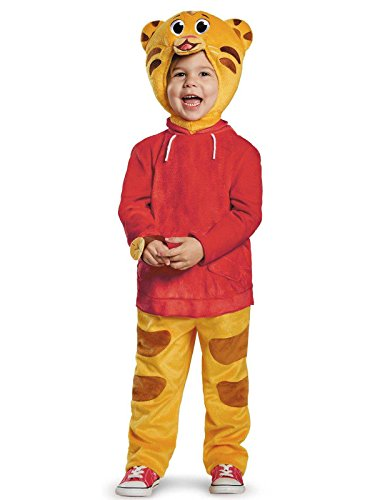 Daniel Tiger's Neighborhood Daniel Tiger Deluxe Toddler Costume, Medium/3T-4T]()