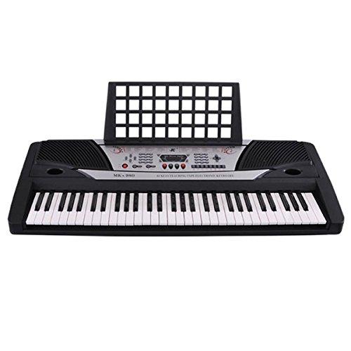 Music Electronic Keyboard 61 Keys Portable Piano MK980 by LASHOP