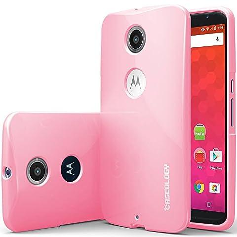 Nexus 6 Case, Caseology [Daybreak Series] Slim Fit Shock Absorbent Cover [Pink] [Slip Resistant] for Motorola Nexus 6 - (Nexus 6 Cell Phone Case)