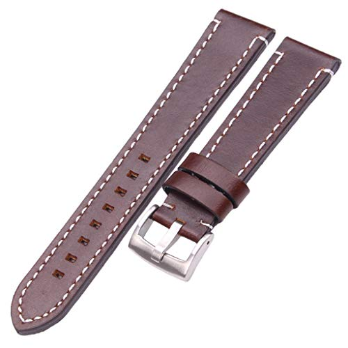 Watch Wrist Girard Perregaux Vintage - Smooth Genuine Leather Watch Band Strap 18 20 22 24Mm Black Dark Brown Vintage Watchbands Belt Silver Black Buckle