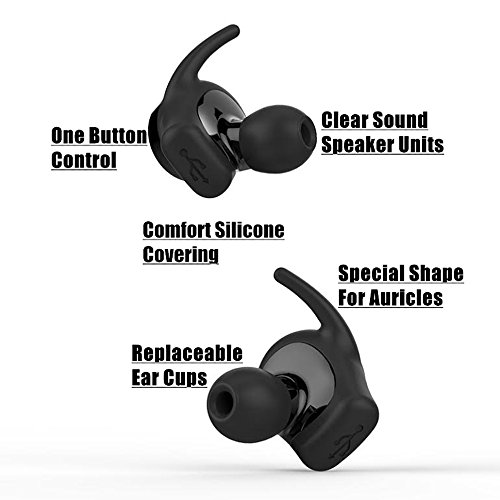 2c654afb202 True Wireless Sport Earbuds, Dual HD Stereo ,Bluetooth 4.2 ,Cordless  Earphone , Build