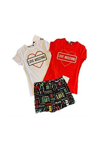 48 E2011 Rosso Abbigliamento W4f73 Love Moschino qfwTI1YP