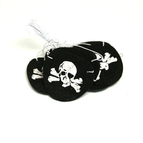 Felt Pirate Eye Patches 1 Dozen (Pirate Dress Up)