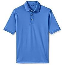Lands' End Men's Big & Tall Supima Polo Shirt, L, English Blue