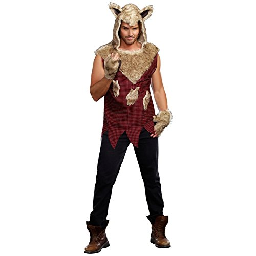 [GSG Big Bad Wolf Costume Adult Werewolf Halloween Fancy Dress] (Pharaoh Adult Mens Plus Size Costumes)