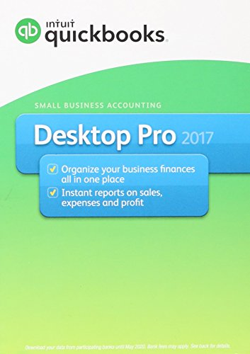 Software : Intuit QuickBooks Desktop Pro 2017 Small Business Accounting Software [Old Version]