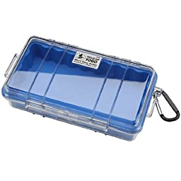 Pelican 1060 Micro Case With Carabiner (Blue/Clear)