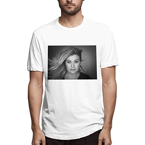 - BOBOEN Men Kelly Clarkson Unique Trend Tee White