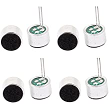 uxcell 8Pcs 52dB Electret Microphone Inserts with PCB Pins Condenser 9x7mm