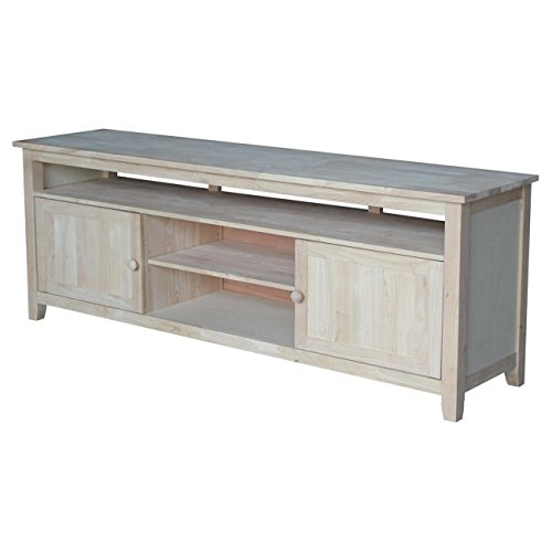 International Concepts TV Stand with 2 Doors, 1 Shelf and 2 Cabinets