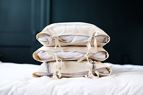 House Sham - Grainsack Farmhouse Bow Tie Pillow Sham King Queen Standard Sizes Available