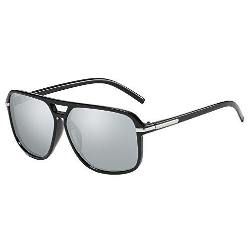 Aviator de Diseñador 80 hombre Gris de Retro para Gafas sol vintage moda Gafas mujer qpwCfIxf