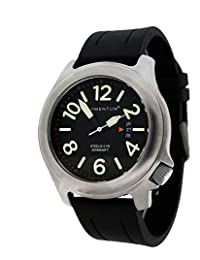 Momentum by St. Moritz Men's Steelix Black/Rubber Watch