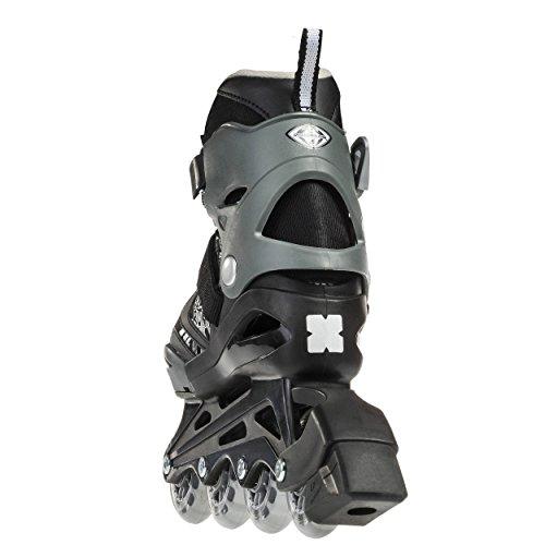 Bladerunner by Rollerblade Phoenix Boys Adjustable Fitness Inline Skate, Black and Silver, Junior, Value Performance Inline Skates by Bladerunner (Image #2)