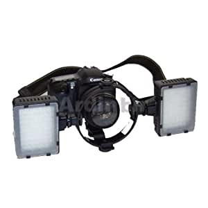 Pro Macro Twin Led Continuous Lite Light Kit for Canon 450D, 1000D, 550D, 400D, 500D, 350D, Xsi, T1i, T2i, Xti, XS, XT, 50D, 40D, 10D, 20D, 7D, 1Ds, 1D Mark II, III, IV, 5D Mark II