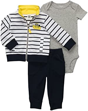 Carter's Baby Boys' S.S. Cutie 3-pc Cardigan Pant Set