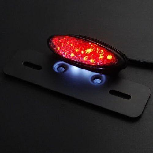 Sport Bike /Convient /à tout Bike anzene Custom Moto Lampe arri/ère LED avec frein int/égr/é Lumi/ère et support de plaque Fender Custom Fit Feu arri/ère universel Eliminator/