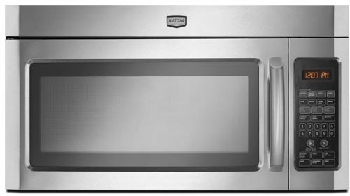 Amazon.com: Maytag mmv4203ws 2 CU. FT. Acero inoxidable over ...