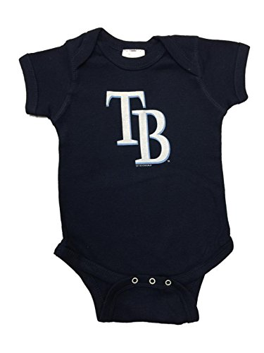 Tampa Bay Rays INFANT BABY Unisex Navy Lap Shoulder One Piece Outfit (6M)