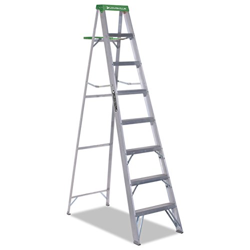 Lightweight Aluminum Molded Green Plastic Top 8ft Ladder by Louisville (Image #1)