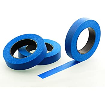 "3pk 1"" x 60 yd Blue Painters Tape PROFESSIONAL Grade Masking Edge Trim Easy Removal (24MM .94 in)"