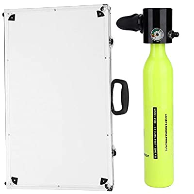 Scuba Diving Oxygen Tank, Portable Lightweight Oxygen Bottle Diving Oxygen Cylinder Set with Air Pump for Diving Swimming Summer Vacation