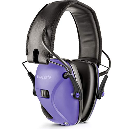 awesafe Electronic Shooting Earmuff, Noise Reduction Sound Amplification Electronic Safety Ear Muffs, Ear Protection, NRR 22 dB, Ideal for Shooting and Hunting, Purple ... ...