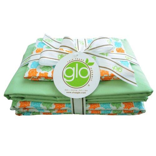 glo Organic Elephant Print-Full Sheet Set