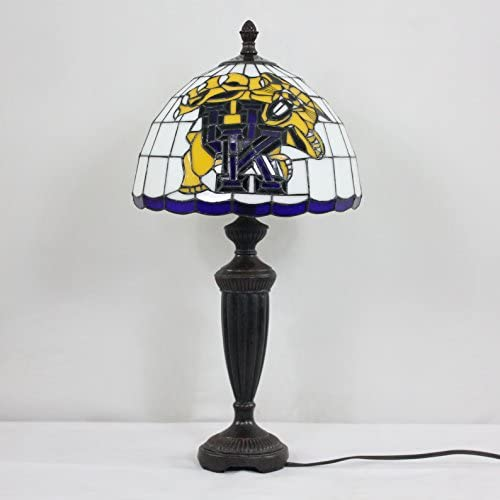 12-inch NCAA Kentucky Wildcats Stained Glass Table Lamp