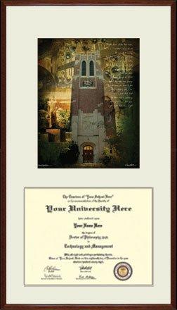 michigan state university diploma frame beaumont tower large holds 12 - Michigan State Diploma Frame