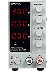 Festnight NPS306W 0-30V 0-6A Switching DC Power Supply 3 Digits Display LED High Precision Adjustable Mini Power Supply AC 115V/230V 50/60Hz Voltage & Current Regulated Dual Output