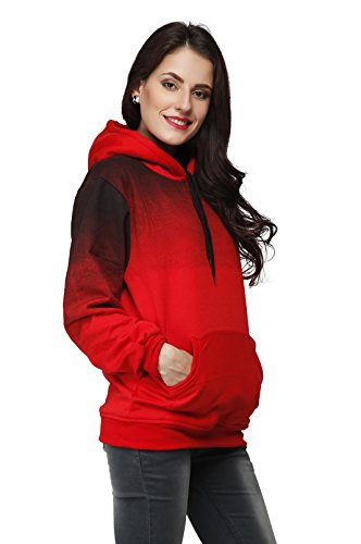 High Hill Full Sleeve Zipper Pullover Hoodie | Thick Cotton Winter Sweatshirt for Women & Girl