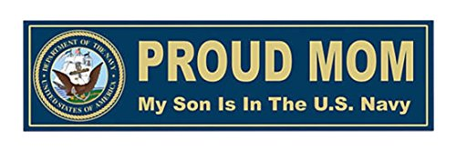1 Set Ideal Popular U.S. Proud Navy Mom Sticker Sign Window Car Decal Wall Size 11