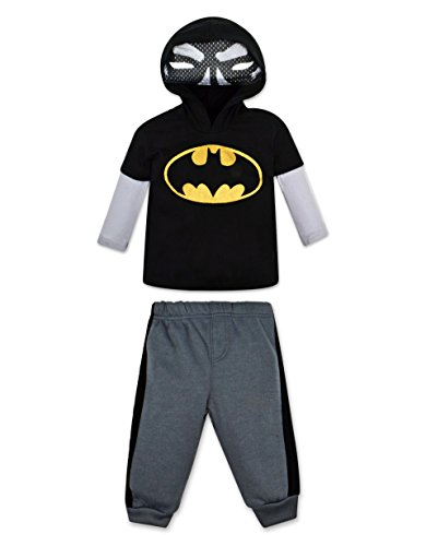 [Baby Boys' Batman Hoodie with Mask and Pants Set (18 Months)] (Batman Outfit Baby)