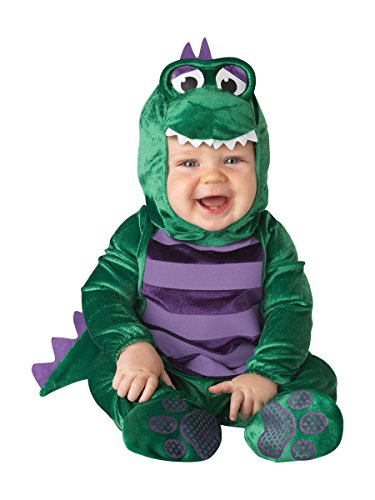 InCharacter Costumes Baby's Dinky Dino Dinosaur Costume, Green/Purple, 6-12 Months]()