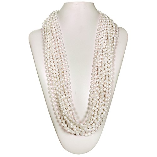 Metallic Bead Necklaces Party Favors ((72 Pack) 33