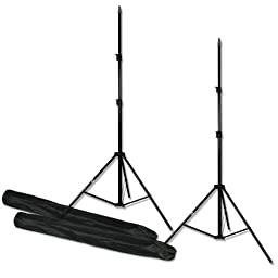 PBL Light Stands 7 ft Studio Photo Video Set of 2 Steve Kaeser Photographic Lighting