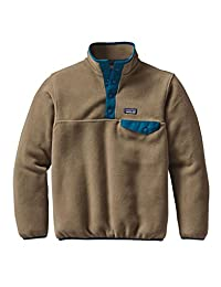 Patagonia Boys' Lightweight Synchilla Snap-T Pullover Ash Tan M