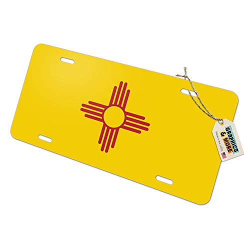 (New Mexico State Flag Novelty Metal Vanity License Tag)