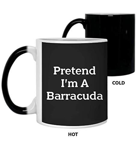 Pretend Im Barracuda Costume Funny Halloween Party E12Coffee Mugs, Color Changing 11Oz