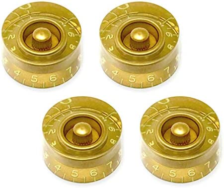 Gold Vintage EMBOSSED Speed Knobs Fits CTS Split Shaft Pots for Gibson USA 4