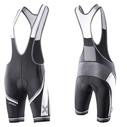 Image of 2XU Womens Sublimated Cycle Bib Shorts-Small (Black/Charcoal) Compression Shorts