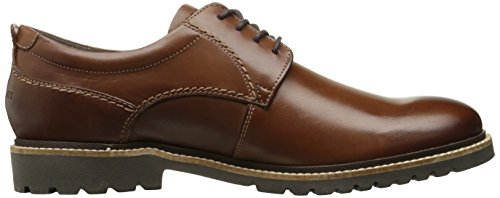 Rockport Heren Marshall Vlakte Teen Oxford Donkerbruine Lederen