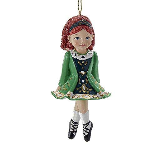 Kurt Adler 4.5-Inch Resin Irish Dancer Ornament