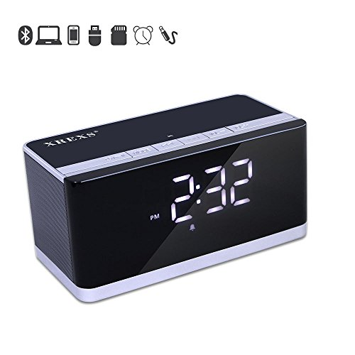 Alarm Clock Bluetooth Speaker FM Radio XREXS Po...