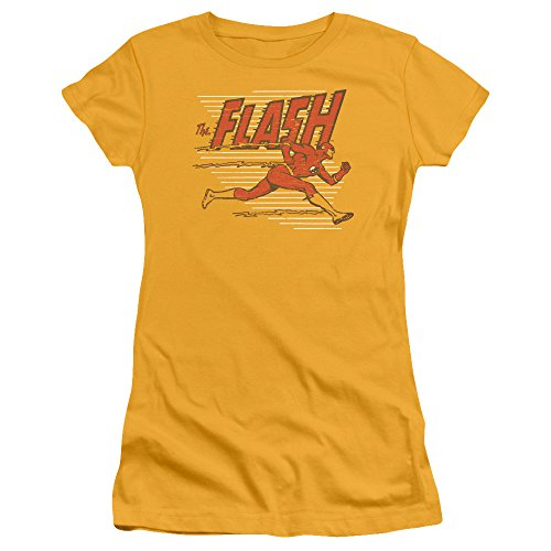 Trevco Dc Flash Speed Lines Juniors' Sheer Fitted T Shirt, Large -