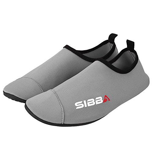 Sibba Unisexe Peau Deau Pieds Nus Aqua Chaussures À Séchage Rapide Plage Natation Surf Yoga Chaussures Dexercice Pour Les Femmes Hommes Et Enfants Gris
