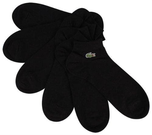 Lacoste 3 Chaussettes Noir De Sport Pack Court BTO1qp